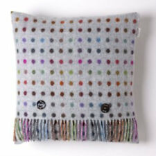 Bronte by Moon 100% Merino Wool Multispot Cushion - Grey/Multi