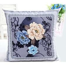 Printing Dyeing Peony Sofa Bed Home Decor Pillow Case Cushion Cover Purple