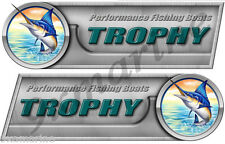 """Two Trophy 10"""" Long Decal Sticker Set Left/Right"""