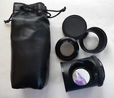 Grand angle + macro adaptateur + angle-Scope 90, 52mm et 49mm front vis plus case
