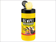 80 Multi-Purpose BIG Hand Wipes For Oil,Silicone,Paint,Grease,Adhesive,BGW2010