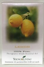 YOUNG LIVING LEMON OIL 10 PACKETS 0.25ML EACH