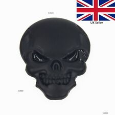 BLACK Devil Demon Skull Skeleton Mask 3D Car Sticker Badge Decal Emblem UK