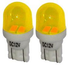 2x ampoule T10 W5W 12V 2LED SMD jaune éclairage intérieur plaque coffre seuils