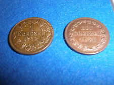 Nassau. 2 x 1 Kreuzer 1856 und 1862, AKS 71 und 72, prägefrisch