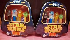 2 x NEW Sealed PEZ Limited Edition STAR WARS Tin Case~Darth Vader R2D2 Yoda C3P0