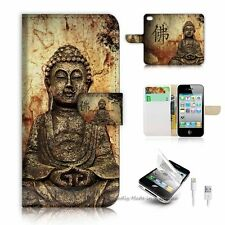 iPhone 5 5S Flip Wallet Case Cover! S8220 Buddha