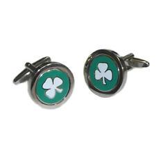 Irish Flag Coin Insert Cufflinks & Gift Pouch - Mens Fashion Ireland