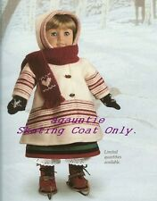 New American Girl Kirsten's Winter SKATING COAT ONLY Addy Caroline Molly Rebecca