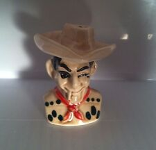 VINTAGE WINKING SMOKING COWBOY & HAT NESTING SALT & PEPPER SHAKERS MARLBORO MAN