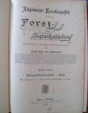 Allgemeine Encyklopädie der gesammten Forst- und Jagdwissenschaften 4. Band 1889