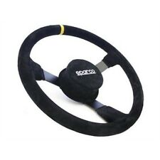 "Sparco 015R406CSN NASCAR 16"" Racing Steering Wheel w/ 3-Bolt Pattern, 4"" Dish"