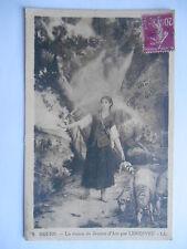 """CPA """"Rouen - La vision de Jeanne d'Arc par Lenepveu"""""""