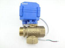 Ventil 3 way motorized ball valve DN20(reduce port) 12V electric ball valve