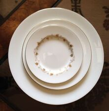 4 PC SET MINTON ENGLAND CHINA Dinner-2 Salad 1 Bread/dessert-1 Carlisle H-5203
