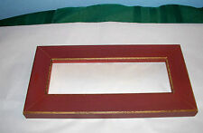 """NEW WOODEN BEVELED BRICK RED FRAME EAST SIDE MOULDINGS 5"""" X 10"""" FOR CROSS STITCH"""