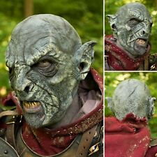 High Quality Latex Bestial Orc Blue Mask. Perfect For Costume, Stage & LARP
