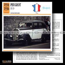#076.20 PEUGEOT 301 D (1934-1936) - Fiche Auto Classic Car card