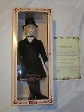 """1986 1987 Steiff 18"""" Felt Doll Gentleman in Morning Coat Cert 1261/3000 9102/50"""
