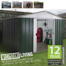 NEW 10x8 10x8FT 10 x 8 FT QUALITY METAL STEEL GARDEN SHED *FREE ANCHOR KIT* TIN
