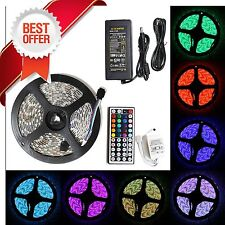 5M SMD RGB 5050 Waterproof 300 LED Strip Light 44 Key Remote 12V 5A Power K