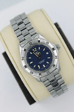 Tag Heuer 2000 WK1313 BLUE Classic Professional SS Watch Womens $1K Mint Crystal