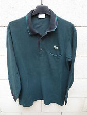 Polo LACOSTE Devanlay vert poche noir made in France coton jersey shirt 3