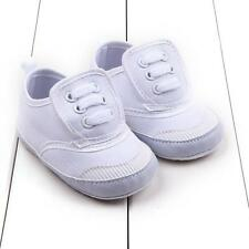 Baby Boys Girls Cloth Canvas Infant Toddler Soft Sole Sneakers Crib Shoes N1