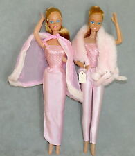 Barbie 1980s Doll Loose Vintage Fashion Pink & Pretty Variations Lot of 2