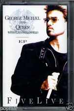 GEORGE MICHAEL & QUEEN WITH LISA STANSFIELD - FIVE LIVE EP 1993 UK CASSINGLE
