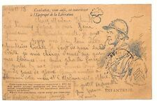AZ190 1918 *FRANCE* Postcard Illustrated Postal Stationery {samwells-covers}PTS
