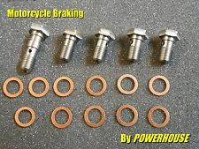 M10 x 1.00 stainless banjo bolt & washer set brake Suzuki Aprilia Ducati