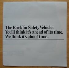 BRICKLIN SV-1 rare orig 1970s large format sales brochure