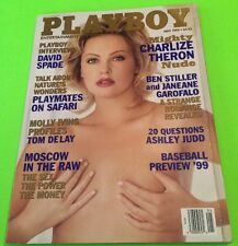 Playboy Magazine, May 1999, Charlize Theron, Vintage, FREE SHIPPING!!