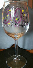 30TH BIRTHDAY WINE GLASS, FLIRTY THIRTY, 12 FL OZ, BRAND NEW
