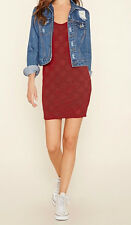 42% OFF!AUTH FOREVER 21 WOMEN'S BURGUNDY LACE MINI DRESS SMALL BNEW US$ 15.90