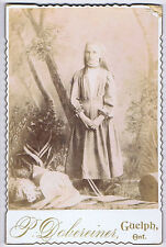 CABINET CARD Photograph Victorian Teenage Girl by Dobereiner of Guelph, Ontario