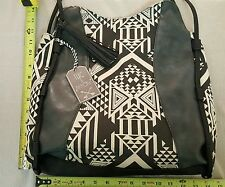Women's Twig & Arrow Brand Black & White Graphic Large Tote Hand Bag Purse