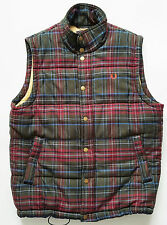 Mens Fred Perry Gilet Plaid check Shooting Jacket Body Warmer Zip&Button Medium