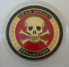 DEAD MONEY COLLECTOR Skull brass poker Card Guard Protector