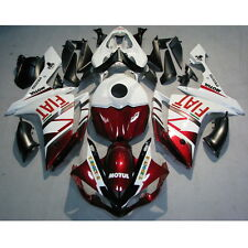 Injection Mold ABS Fairing Kit Fit For YAMAHA YZF R1 YZF-R1 07-08 Red Flat White