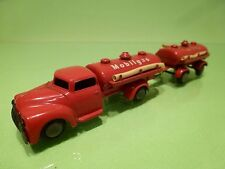 TEKNO DENMARK 778 781 MINI DODGE TRUCK + TRAILER - RED L17.0cm - GOOD CONDITION