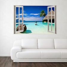 Infinity Pool Scene 3D Full Colour Window Home Wall Art Stickers Mural Decal