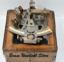 """6"""" Solid Brass Sextant Nautical Working Instrument Astrolabe Ships Maritime Gift"""