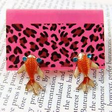 Betsey Johnson Poisson Orange Japonais Koi Carp Gosanke Boucles d'oreilles