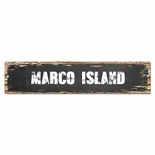 SP0354 MARCO ISLAND Street Sign Bar Store Cafe Home Kitchen Chic Decor Gift