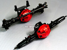 AXIAL SCX10 Honcho, Jeep All Metal AXLES Front + Rear RC Rock Racer AXLES Black