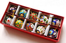 Collectibles10pcs Chinese Classic Handmade Cloisonne Christmas Ball Ornaments