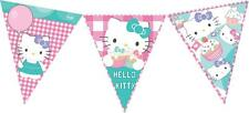 HELLO KITTY FLAG BUNTING BANNER  -  GIRL'S BIRTHDAY PARTY DECORATION  - NEW BNIP