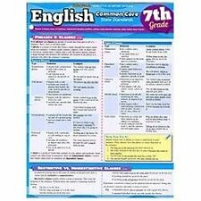 English Common Core 7Th Grade by Inc. BarCharts (2013, Book, Other)